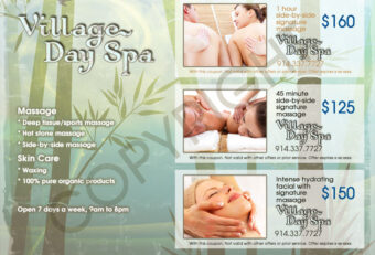 Flyer Print Design for Day Spa