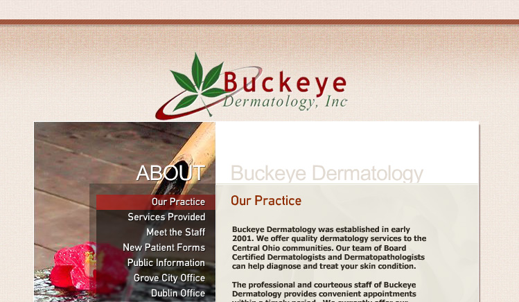 Buckeye Dermatology Website Design
