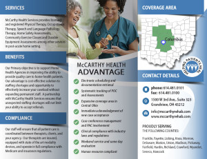 Tri-Fold Brochure Print Design for McCarthy Health Services