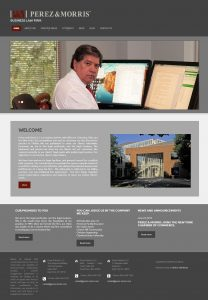 WordPress website design for law firm.