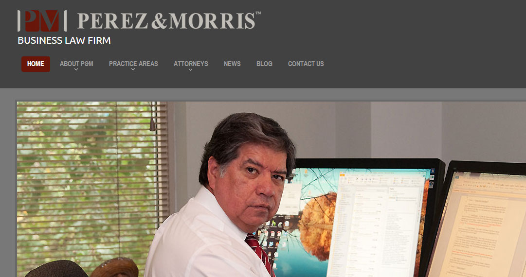 Custom WordPress website design for law firm, Perez & Morris of Columbus Ohio!