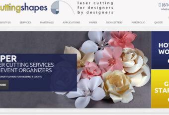 WordPress Website Design for Laser Cutting Shapes