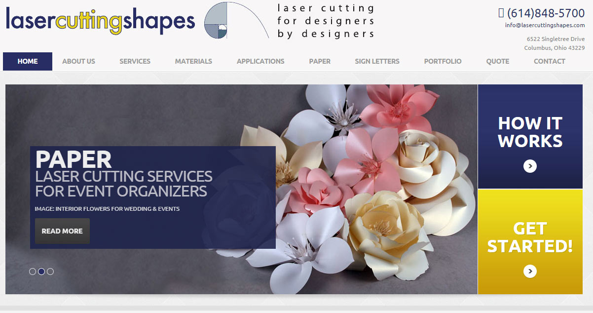 Website design for Columbus laser cutting company!