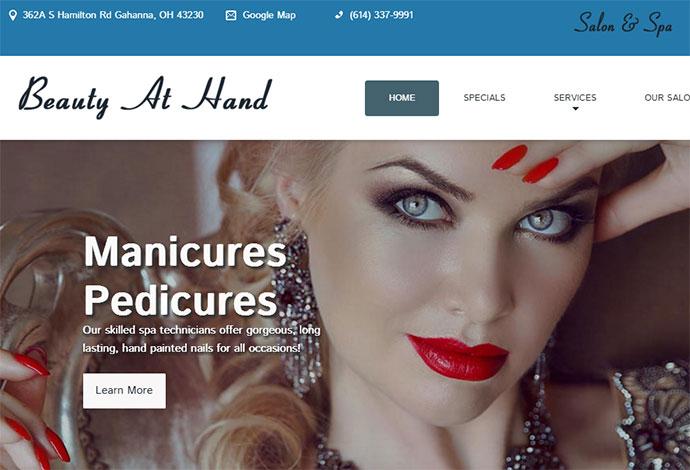 WordPress Website Design for Salon