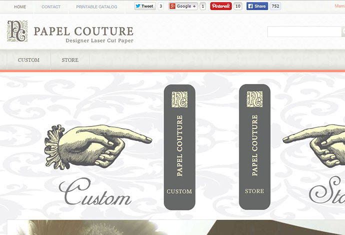 Prestashop Website Design Papel Couture