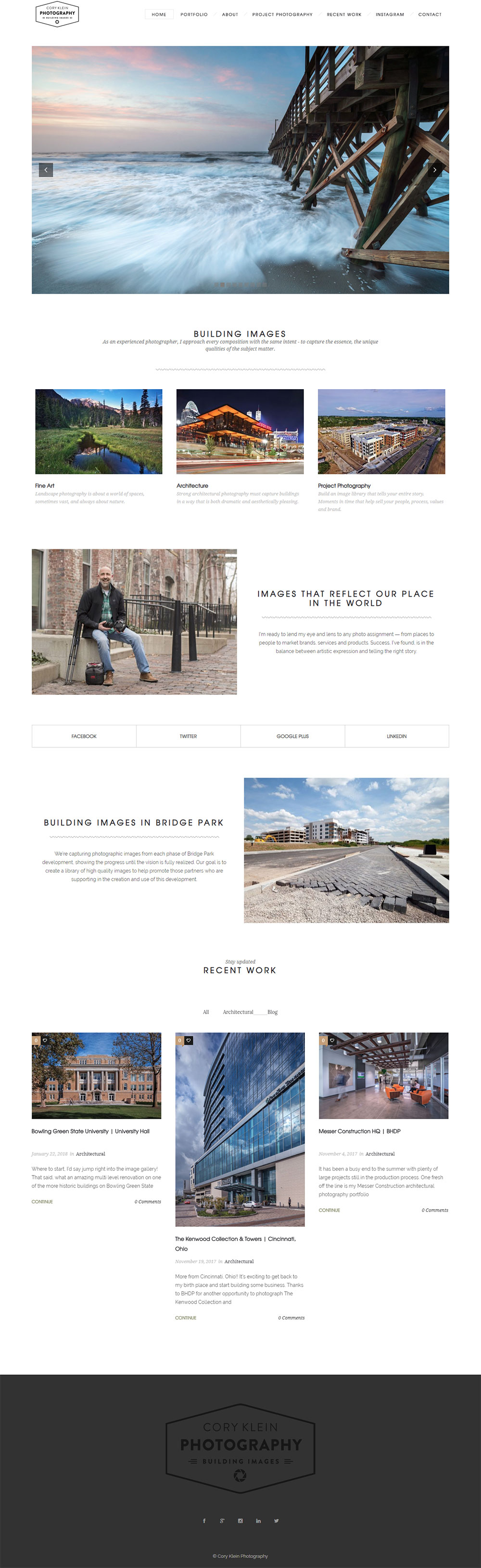 Website Design for Architectural Photographer, Cory Klein