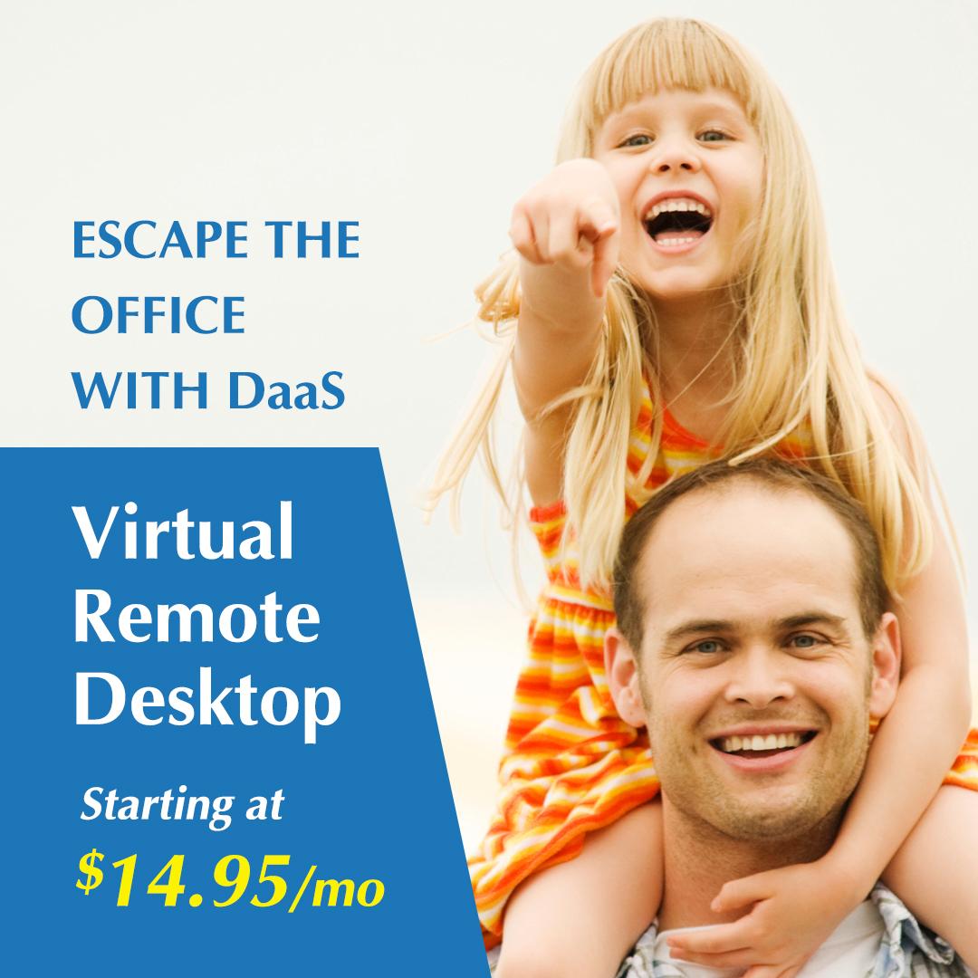 Infosaic DaaS Remote Desktop Facebook Advertisement