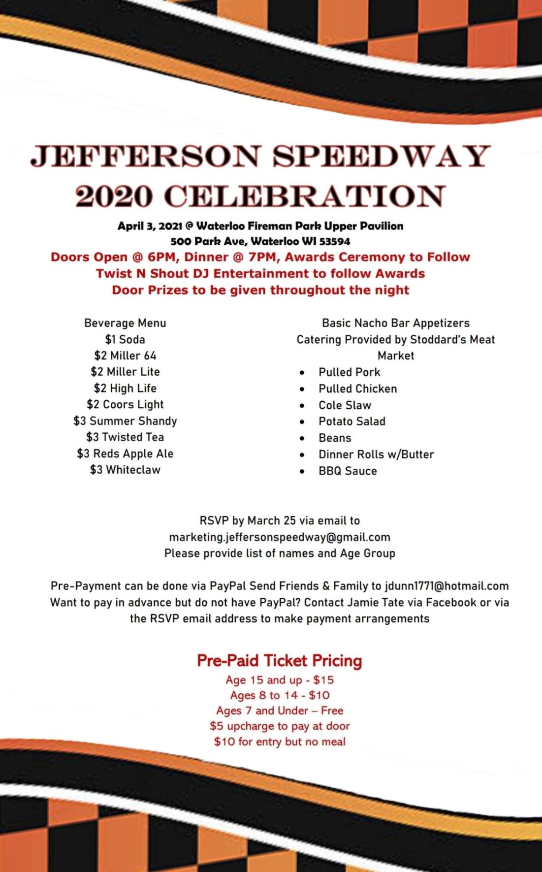 Jefferson Speedway 2020 Celebration