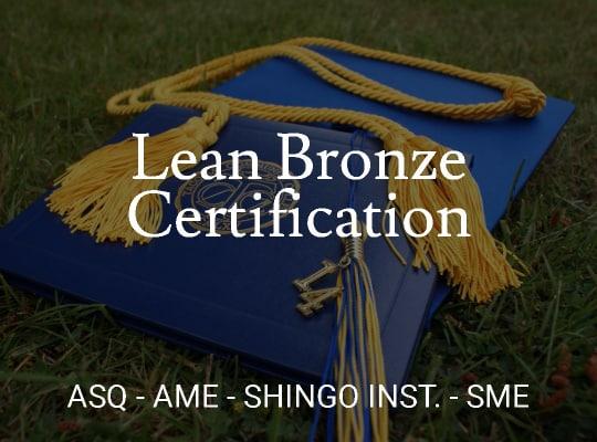 Lean Bronze Certification