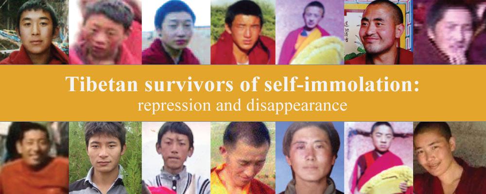 Tibetan survivors of self-immolation