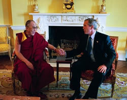 Dalai Lama with President Bush