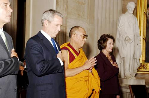 President Bush, the Dalai Lama, Speaker Nancy Pelosi