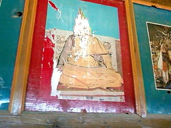 Photo of the 14th Dalai Lama at Kirti Monastery