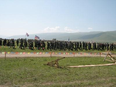 training exercises near Tro-Tsuk monastery