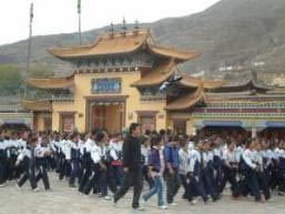 Tibetan students in Rebkong protest