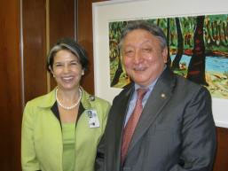 Maria Otero and Lodi Gyari