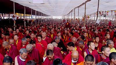 Monks at Kalachakra