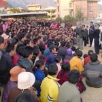 Congressional staff delegation meeting with Tibetan refugees [Tibetan Refugee Transit Center, Kathmandu, Nepal]