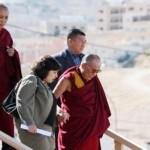 His Holiness the Dalai Lama disembarking from plane [Petra, Jordan, June, 2006]