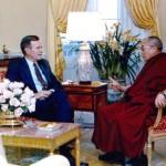 His Holiness the Dalai Lama and U.S. President George H.W. Bush [The White House, Washington, DC, April 16, 1991]