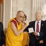 His Holiness the Dalai Lama accepting the Congressional Gold Medal [The Rotunda, US Capitol, Washington, DC, October 17, 2007]
