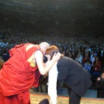 His Holiness the Dalai Lama recognizes ICT for its assistance [MCI Center, Washington, DC, November 13, 2005]
