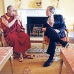 His Holiness the Dalai Lama and US President George W. Bush [The White House, Washington, DC, September 10, 2003]