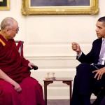 His Holiness the Dalai Lama and US President Barack Obama [The White House, Washington, DC, February 18, 2010]