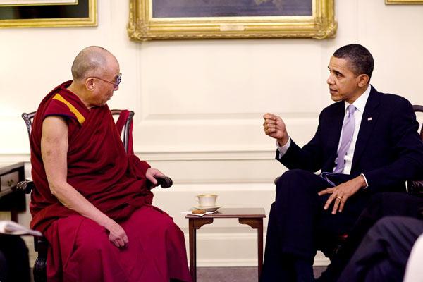 His Holiness the Dalai Lama and US President Barack Obama