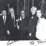 His Holiness the Dalai Lama with Special Coordinators for Tibetan Issues and Lodi Gyari [US Capitol, Washington, DC, May 2001]