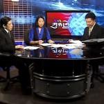 ICT's Rinchen Tashi on VOA news show. [Voice of America Studio, Washington, DC]