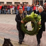 ICT Board Chairs, Lodi Gyari and Richard Gere, laying a wreath at the Geuzen Resistance Monument [The Netherlands, March 2005]