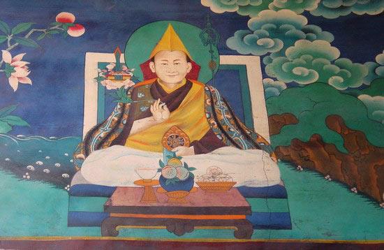 Mural of the Dalai Lama