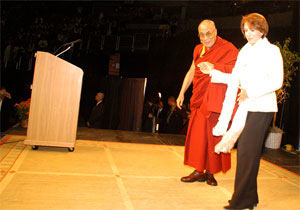 Dalai Lama and Nancy Pelosi