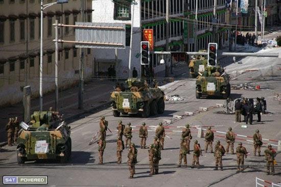 Military patrols in Lhasa