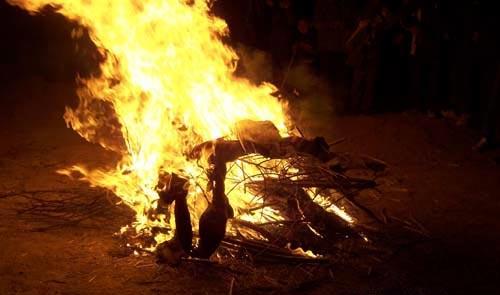 burning pelts