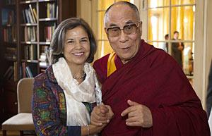 His Holiness the Dalai Lama with Under Secretary Otero