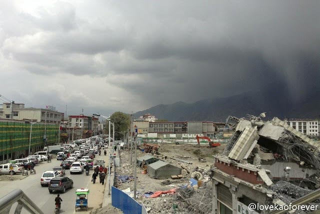 The Old City district of Lhasa.