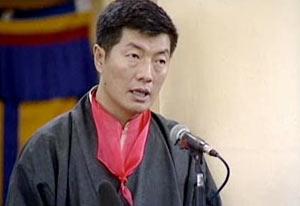 Kalon Tripa Dr. Lobsang Sangay delivers his acceptance speech