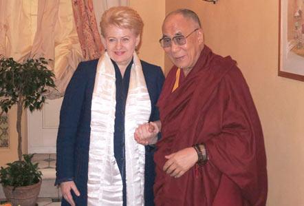 Dalai Lama and the President of Lithuania