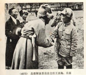 Ngabo Ngawang Jigme and Wang Qimei.