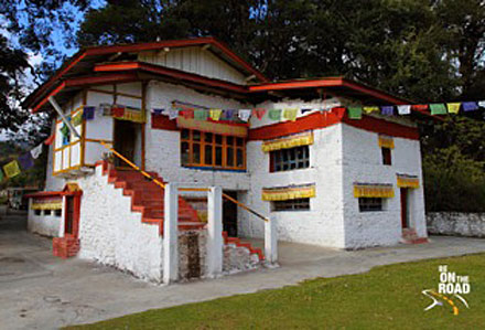 Tsangyang Gyatso (1682 - 1706), was born in Ur-gye-ling, current location, Tawang, Arunachal Pradesh, India. The image shows an isolated and beautiful white-walled house and extensive Buddhist war murals. Compared to the other Dalai Lama birthplaces, it is clear that this residence is outside Tibet, given the freedom to create a space of pilgrimage without restrictions.