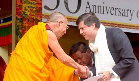 Mario Oriani-Ambrosini and Dalai Lama