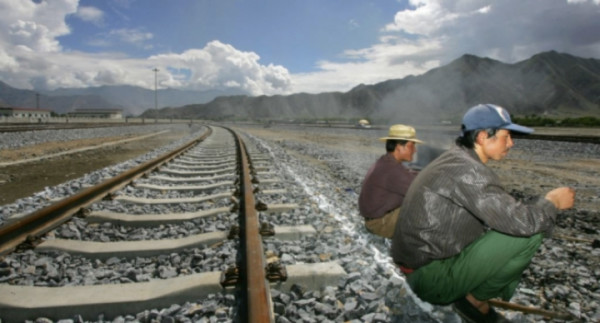 workers on the tracks