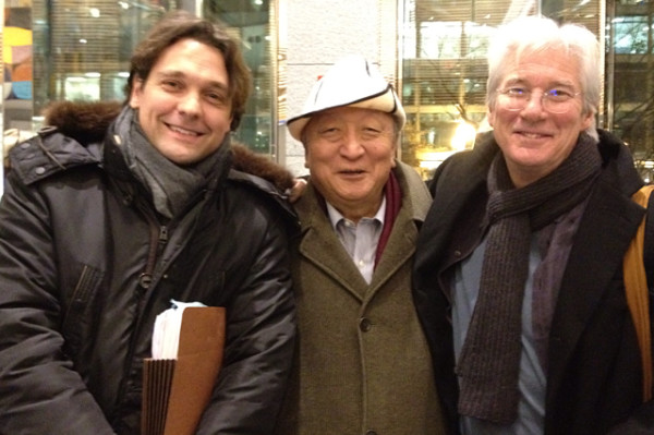 Matteo Mecacci, Lodi Gyari and Richard Gere in Washington, D.C. December 2014. (Photo: ICT)