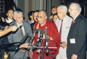 His Holiness addresses the media