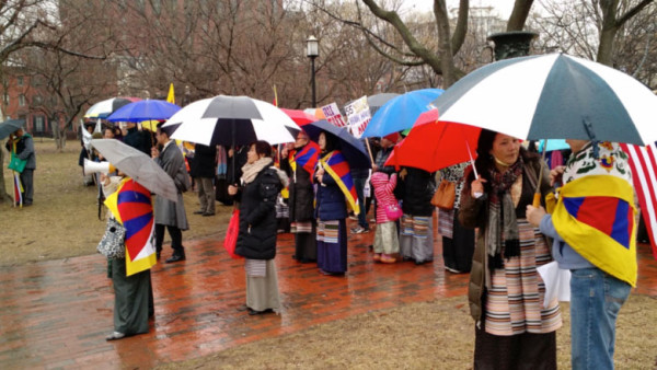 Tibetans and Tibet supporters gather in Washington, DC on March 10.