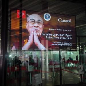 Dalai Lama speaking