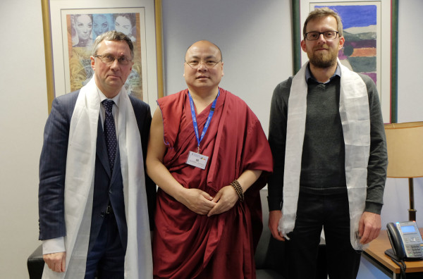Golog Jigme at the Belgian Foreign Affairs Ministry
