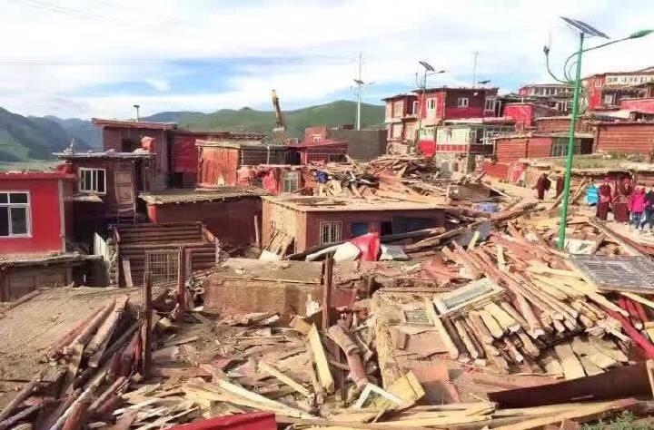 Larung demolition